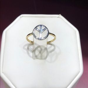 Jewelry - Peace ring 14k two tone white & yellow gold